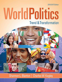World Politics: Trend and Transformation, 2016 - 2017, 16th Edition By Shannon L. Blanton, Charles W. Kegley Jr.
