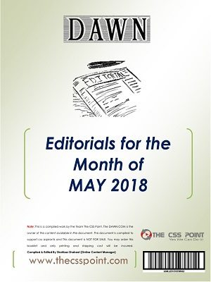 Monthly DAWN Editorials May 2018