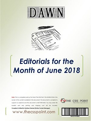 Monthly DAWN Editorials June 2018
