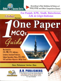 One Paper MCQs Guide By Rana M.Sarfarz Khan (A.H Publishers)