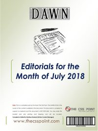 Monthly DAWN Editorials July 2018
