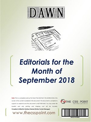 Monthly DAWN Editorials September 2018