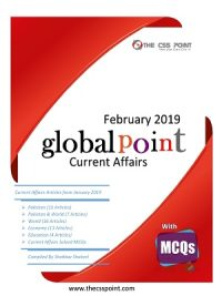 Monthly Global Point Current Affairs February 2019 with MCQs