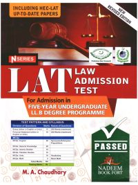 LAT law Admission Test By MA Chaudhary N Series 2021 Edition