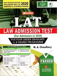 LAT law Admission Test By M. A Chandhary N Series 2020 Edition