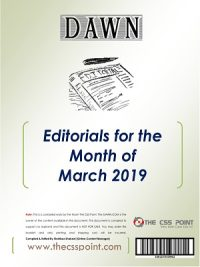 Monthly DAWN Editorials March 2019