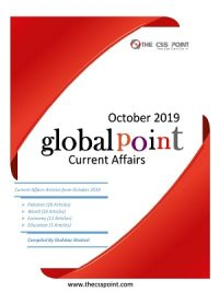 Monthly Global Point Current Affairs October 2019
