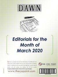 Monthly DAWN Editorials March 2020