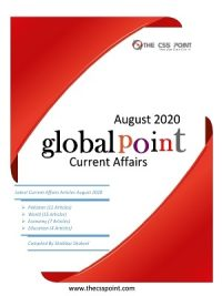 Monthly Global Point Current Affairs August 2020