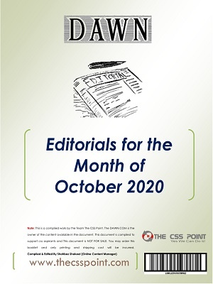 Monthly DAWN Editorials October 2020