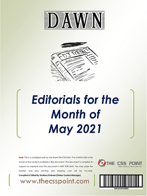 Monthly DAWN Editorials May 2021
